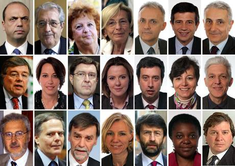 Tutti i ministri di Letta