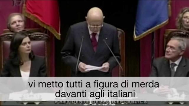 Il discorso di Napolitano (sottotitolato)