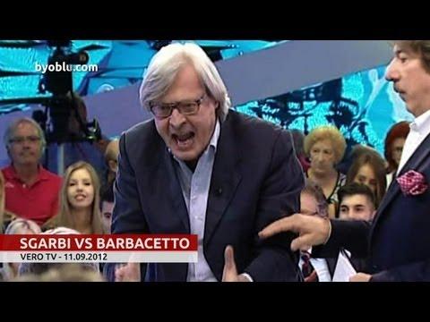 Sgarbi vomita su Barbacetto: sei un finocchio! E i grillini sono cogl….