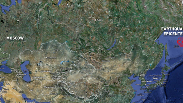 Terremoto in Sakhalin la regione del Kamchatka sovietico.