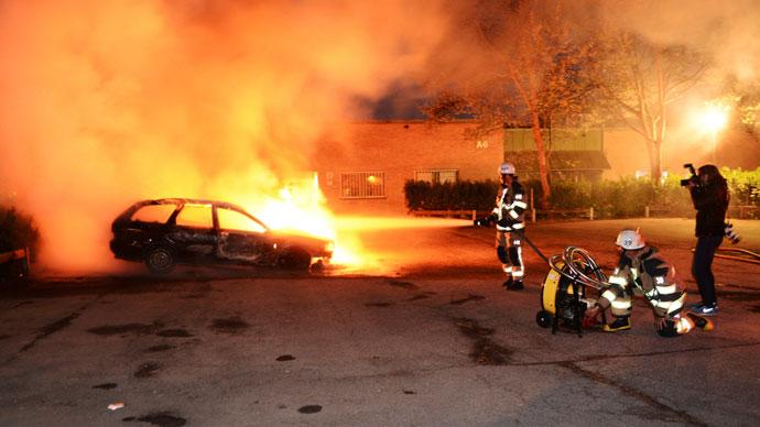 Le notti di rivolta a Stoccolma
