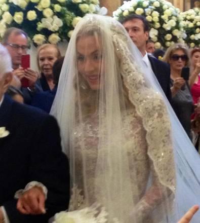 Valeria Marini nel giorno del suo matrimonio a Roma, 05 maggio 2013