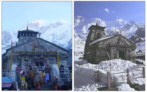 Il Santuario di Kedarnath sommerso nel fango e nella melma: grande devastazione in Himalaya