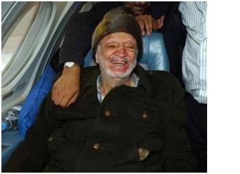 Arafat fotografato prima della sua scomparsa