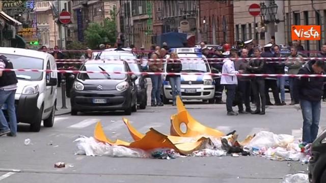 Genova, esplode cassonetto davanti al commissariato