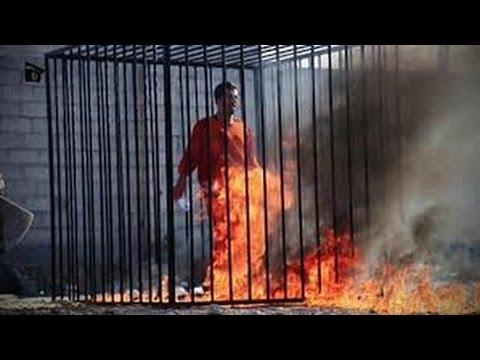 ISIS: il pilota giordano arso vivo