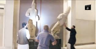 / Edit  Distruzione di statue e bassorilievi antichissimi risalenti anche a circa 4000 anni fa