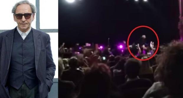 Franco Battiato è caduto ieri sera dal palco del Petruzzelli di Bari