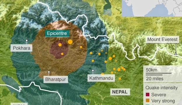 Nepal: l'area interessata dal sisma potrebbe far salire le vittime a 10.000