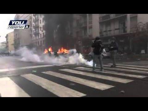 MILANO – NO EXPO 2015 – POLIZIA CONTRO BLACK BLOC
