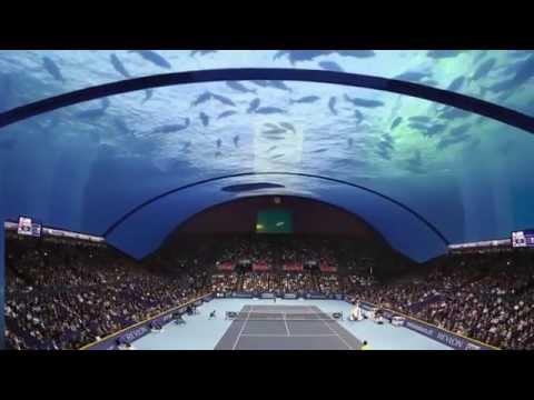 DUBAI: presto si realizzerà campo da tennis subacqueo