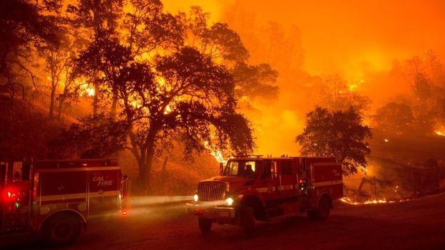 California: Infuria l'inferno foreste e boschi in fiamme