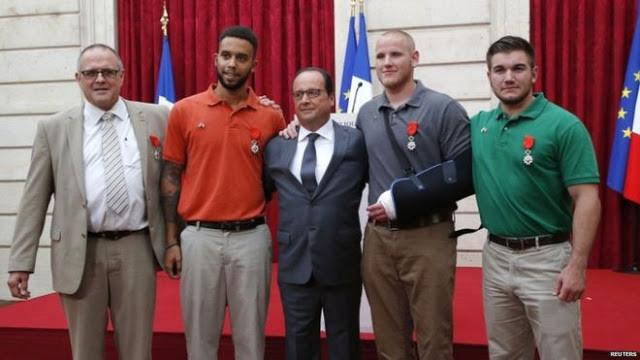 Legion d'onore della Francia ai 4 eroi del treno
