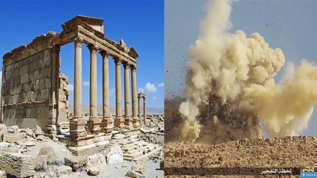 ISIS distrugge l'antico tempio di Baalshamin in Siria