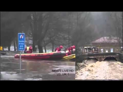 Alluvioni nel Regno Unito: case evacuate per l'inondazione