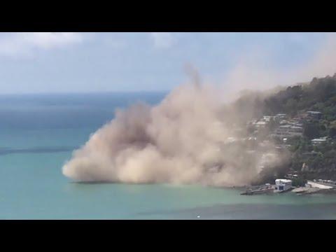 Christchurch, Nuova Zelanda: terremoto fa crollare una scogliera