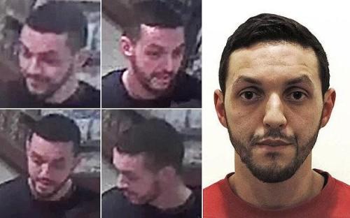 Mohamed Abrini in alcune foto segnaletiche della polizia belga