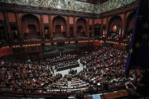 Un momento nell'Aula della Camera dei deputati - Roma 25 novembre 2017