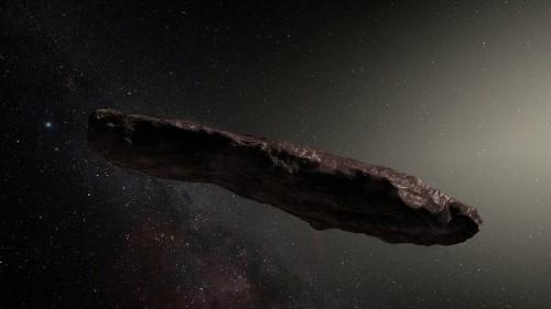L'immagine che rappresenta il misterioso oggetto dell'artista di 'Oumuamua