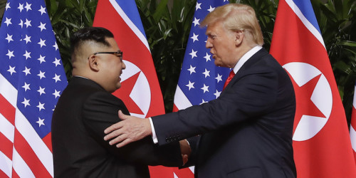 Donald Trump e Kim Jong-un all'Hotel Capella di Sentosa, Singapore, 12 giugno 2018