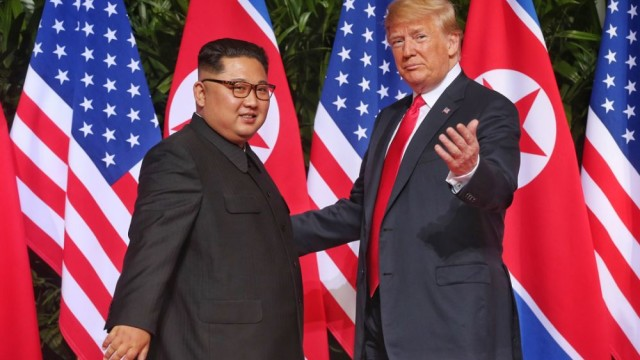 Trump and Kim face to face