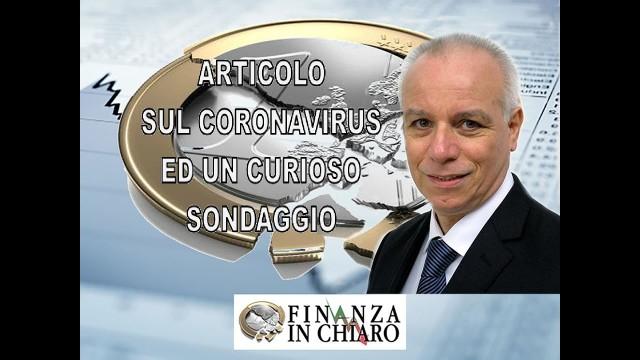 ARTICOLO SUL CORONAVIRUS ED UN CURIOSO SONDAGGIO