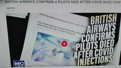 QUATTRO PILOTI DELLA BRITISH AIRWAYS MORTI DOPO IL VACCINO