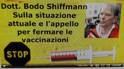 APPELLO PER FERMARE LE VACCINAZIONI – DR. BODO SHIFFMANN