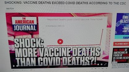 REPORT SHOCK CDC USA :  i decessi per vaccini superano i decessi per covid