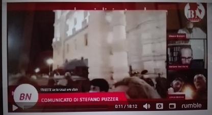 COMUNICATO DI STEFANO PUZZER DOPO L' INCONTRO CON IL PREFETTO